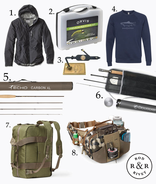 Rod and Rivet Gift Guide for the fly fisher.