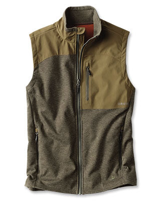 Orvis Hybrid Wool Fleece Vest Olive