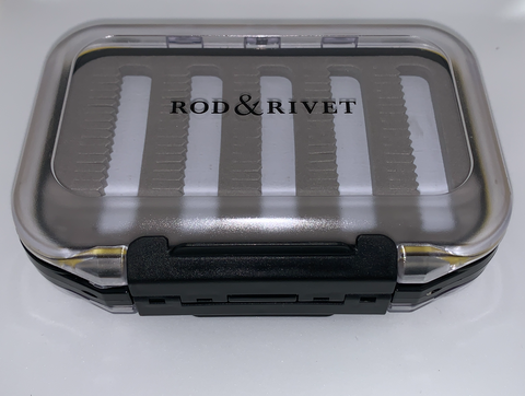 "Rod and Rivet Double Sided Waterproof Fly Box 5"" X 3.5"""