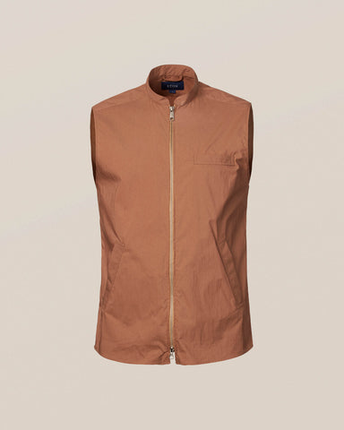 Eton Brown Wind Vest