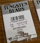Wapsi Tungsten Slotted Beads