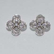 18k Diamond Quatrefoil earrings, Montreal, Quebec