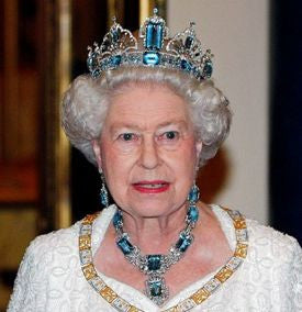 Queen Elizabeth 1953 Aquamarine Tiara and Necklace