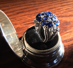 Sapphire and Diamond ring - Westmount, Montreal - Daisy Exclusive