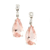 Morganite Drop & Diamond Earrings 18K - Westmount, Montreal, Quebec
