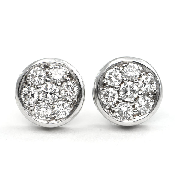 1.16 ct Diamond Cluster stud earrings - Modern - montreal jeweller - daisy exclusive
