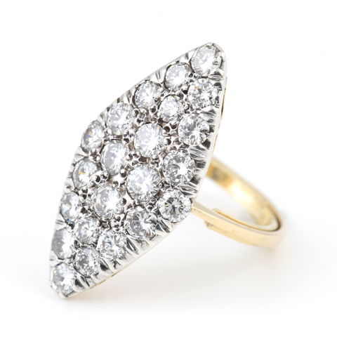Antique Lozenge Shaped Diamond Ring 14K - Westmount, Montreal, Quebec