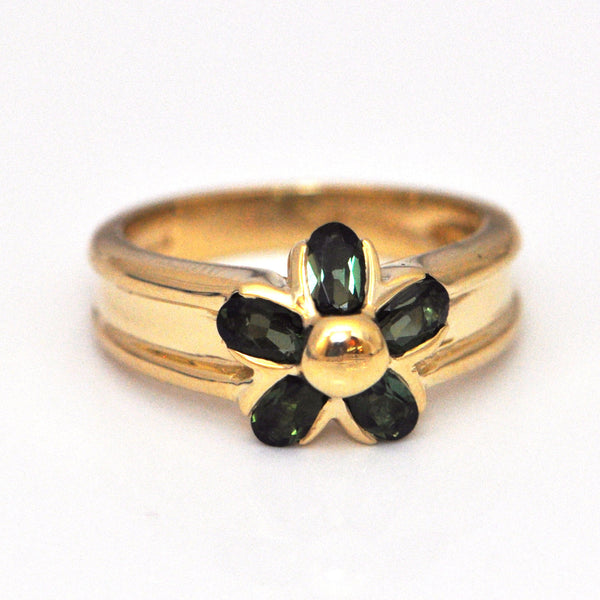 Vintage Green Tourmaline and Gold ring