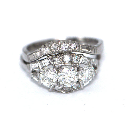 Three Stone Diamond with Band