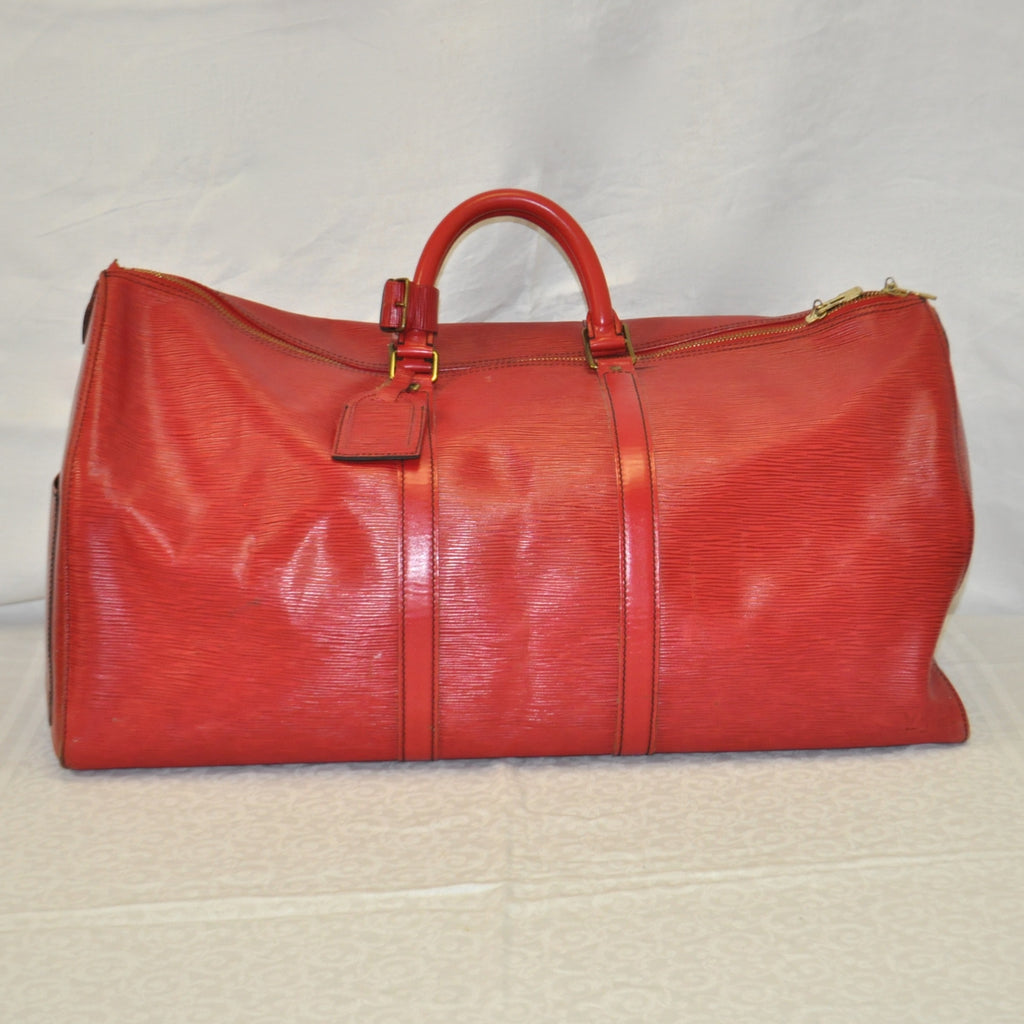 Louis Vuitton Red Epi Leather Keepall 55 Travel Bag - Westmount, Montreal, Quebec