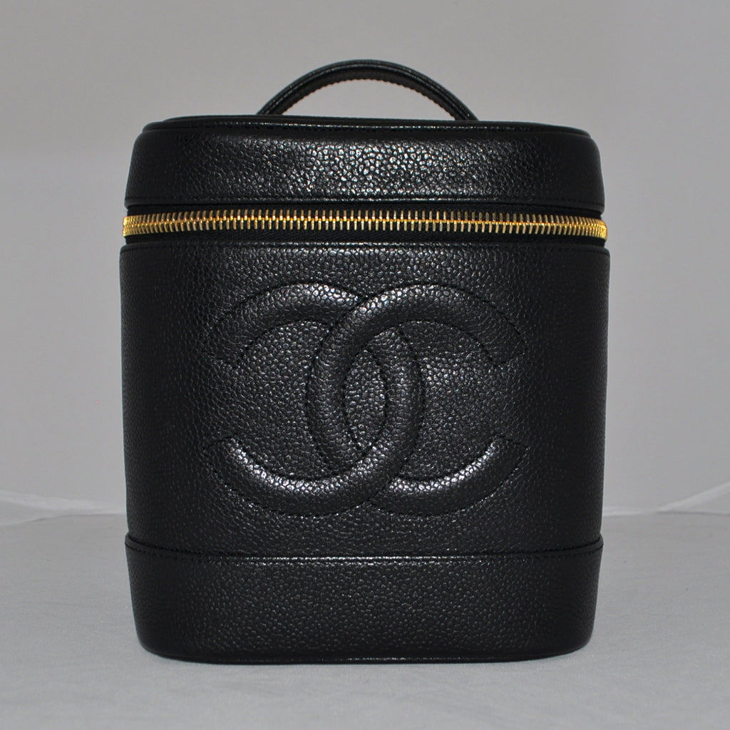 Chanel Black Leather Vanity Bag - Westmount, Montreal, Quebec