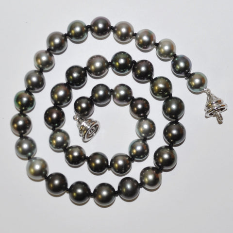 Tahitian Pearl Necklace with Diamond Clasp
