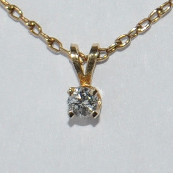 Yellow Gold Diamond Pendant Necklace - Westmount, Montreal, Quebec