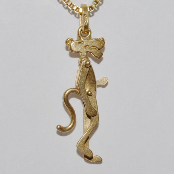 Vintage 18k yellow gold charm, Pink Panther - Westmount, Montreal - Daisy Exclusive