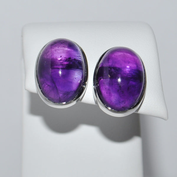 Amethyst Earrings in 18K White Gold - Westmount, Montreal, Quebec - Daisy Exclusive