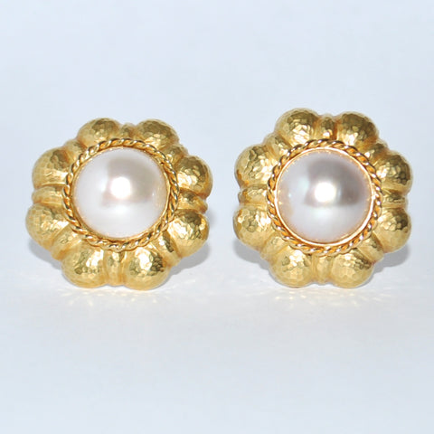 Chanel Style Mabe Pearl Earrings 18K - Westmount, Montreal, Quebec - Daisy Exclusive