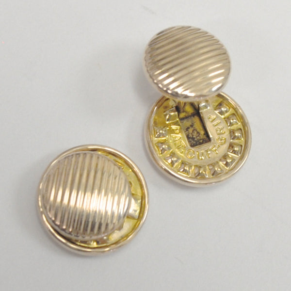 Button Style Cufflinks in 9K Yellow Gold - Westmount, Montreal, Quebec