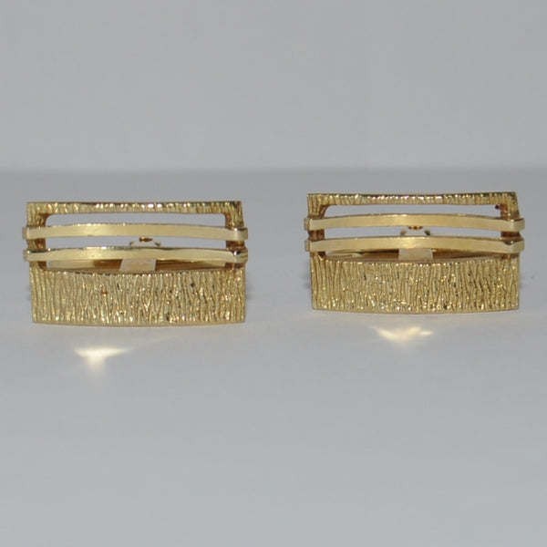 Vintage Gold Cufflinks 14K Yellow Gold - Westmount, Montreal, Quebec