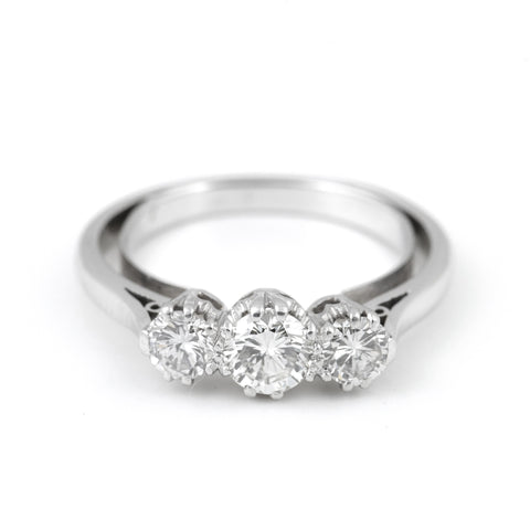 Art Deco 3 Stone Diamond Ring - Daisy Exclusive - Westmount, Montreal
