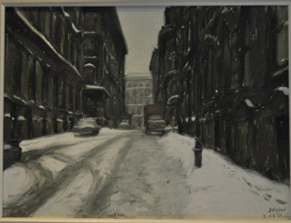 John Little - Rue Des Récollets 1971 - Oil on Canvas