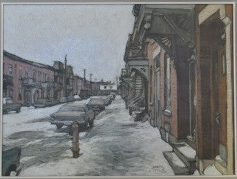John Little - Ave Coloniale Montreal - Oil on Canvas - 1990