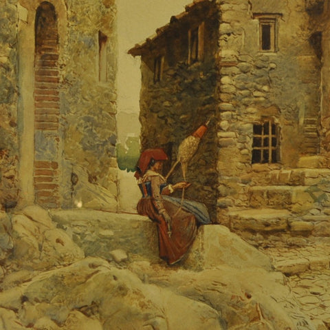 Scipione Simoni (Italian 1853-1918) watercolour on paper 21'' x 14''