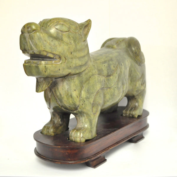 Hand Carved Jade foo dog Guardian