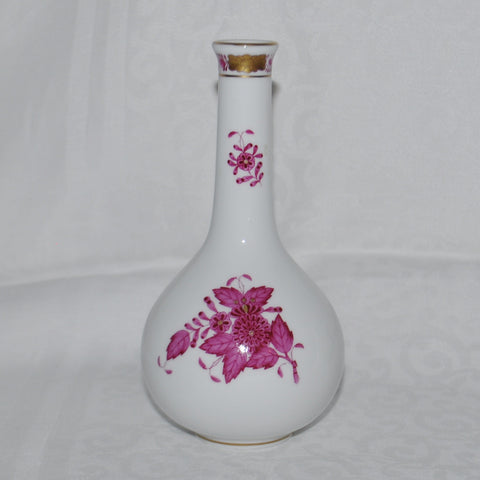 Herend Hungary Handpainted Apponyi Purple Bud Vase