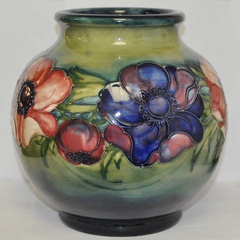 William Moorcroft Anemone pattern Vase c. 1940