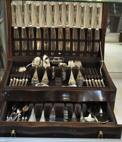 Bruckmann Sterling Silver Flatware - Set of 12 with Individual Pieces in Box