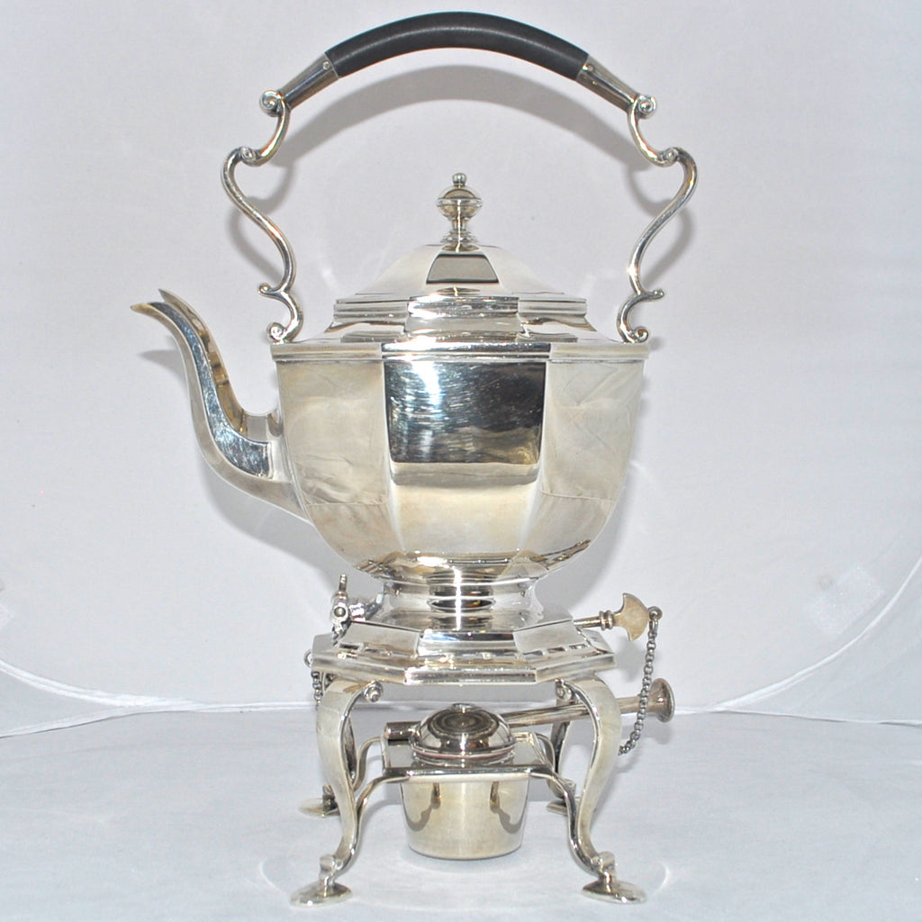 Vintage Mappin & Webb 1926 Sterling Silver Hot Water Tipping Pot - Westmount, Montreal - Daisy Exclusive