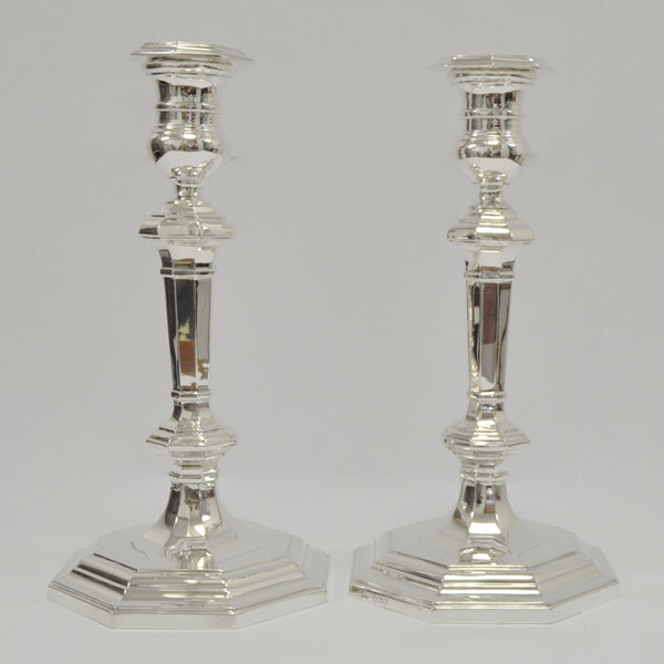 Mappin & Webb Sterling Silver Candlesticks - Westmount, Montreal - Daisy Exclusive