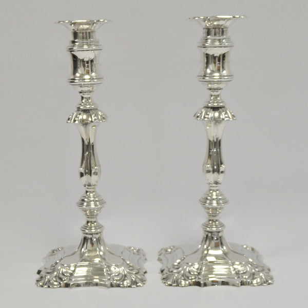 Barker Brothers Sterling Silver Fancy Single Candlesticks - Westmount, Montreal