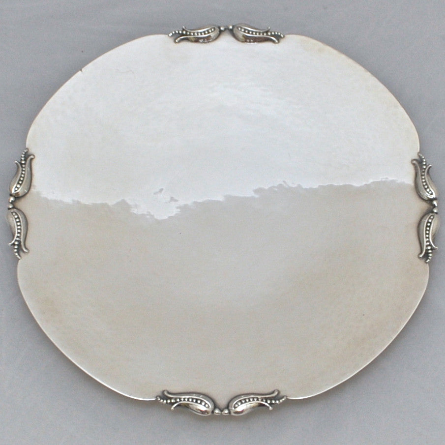 Vintage Carl Poul Petersen Sterling Silver Tray - Westmount, Montreal - Daisy Exclusivers