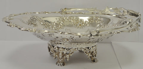 Large Sterling Silver Dish with Handle by John Round c.1900 - Westmount, Montreal - Daisy Exclusive