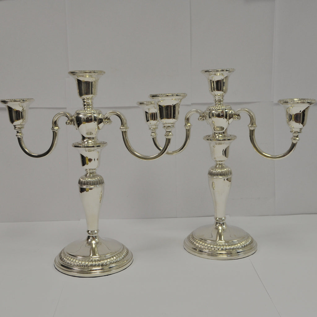 Pair of Birks Sterling Silver Candelabra - Westmount, Montreal - Daisy Exclusive
