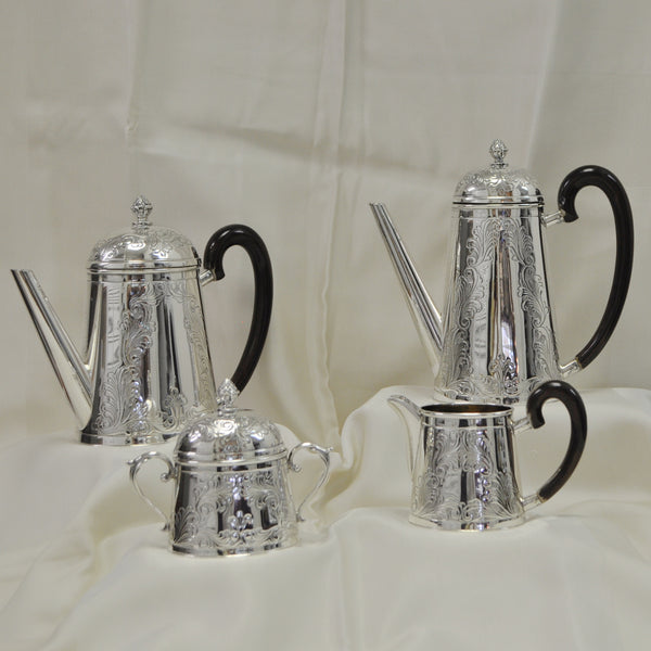 Italian 800 Silver 4 piece Tea Set from 1960 - Westmount, Montreal - Daisy Exclusive