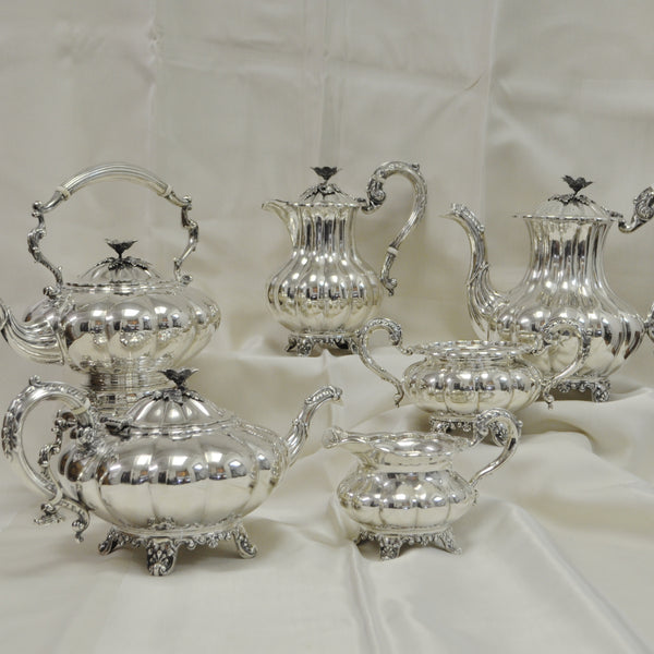 Birks Sterling Silver 6 pc. Tea Set, c.1957