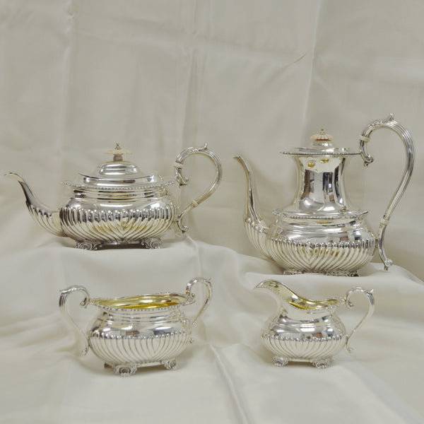 Birks Sterling Silver 4 pc. Tea Set c.1956 - Westmount, Montreal - Daisy Exclusive
