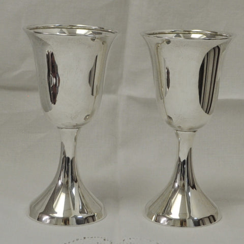Birks Sterling Silver Wine Goblets - Westmount, Montreal - Daisy Exclusive