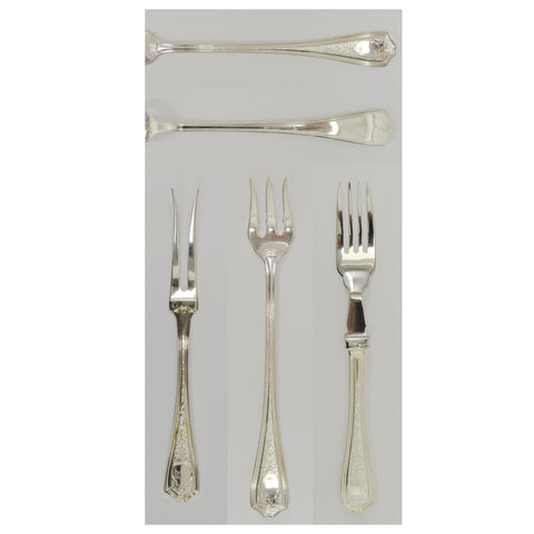 Birks Silver Plate Marlsborough pattern silverware
