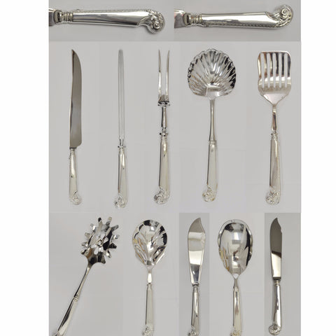Birks Windsor Pistol Handle pattern silverware