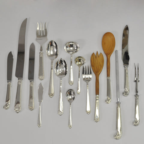 Henry Birks and Sons George II plain silverware - Westmount, Montreal - Daisy Exclusive