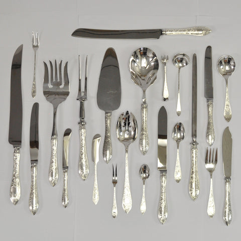 Henry Birks and Sons Tudor Scroll silverware - Westmount, Montreal - Daisy Exclusive