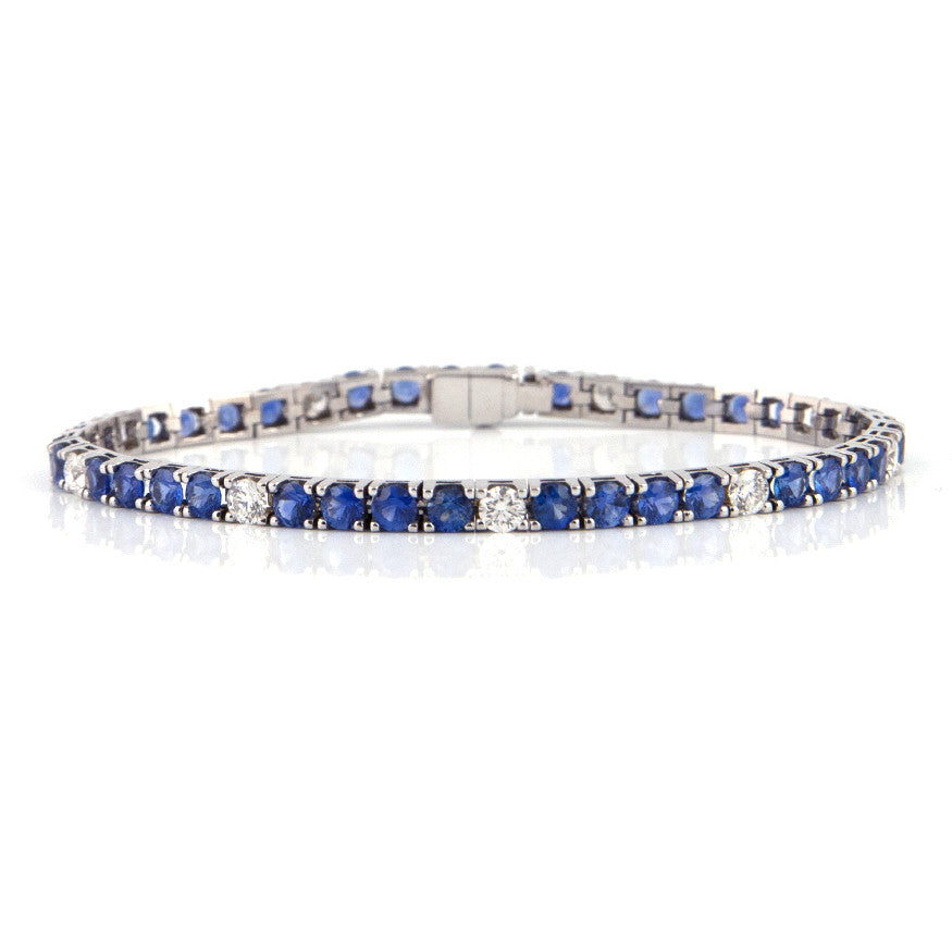 Sapphire and Diamond Tennis Bracelet - Westmount, Montreal