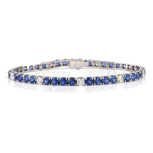 7.12 ct Sapphire and 1.6 ct Diamond Tennis Bracelet - montreal jewellers - daisy exclusive