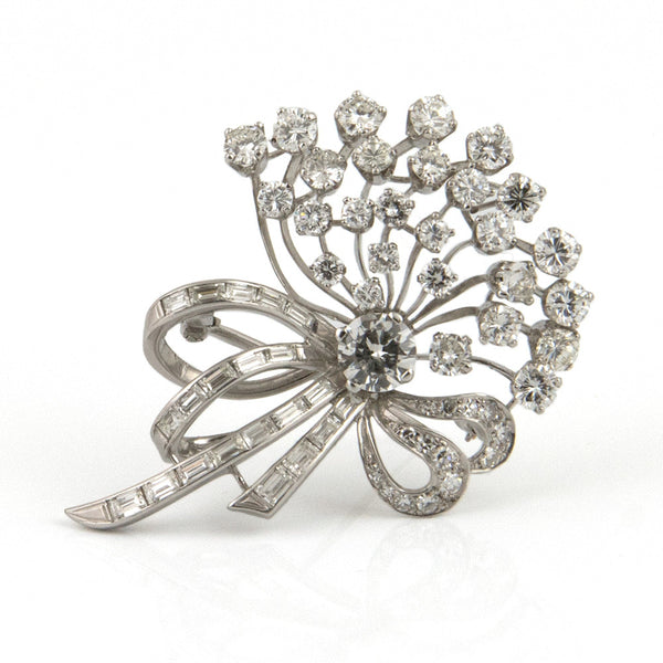 Diamond Bouquet Brooch with 0.85 ct Diamond - Westmount, Montreal