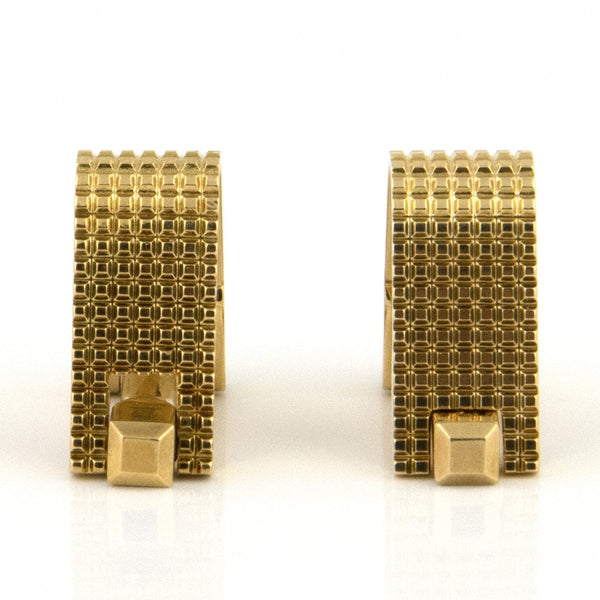 Vintage Gold Wrap-around Cufflinks - Westmount, Montreal