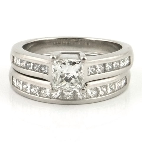Birks Princess Cut Diamond Ring & Semi Eternity - Westmount, Montreal