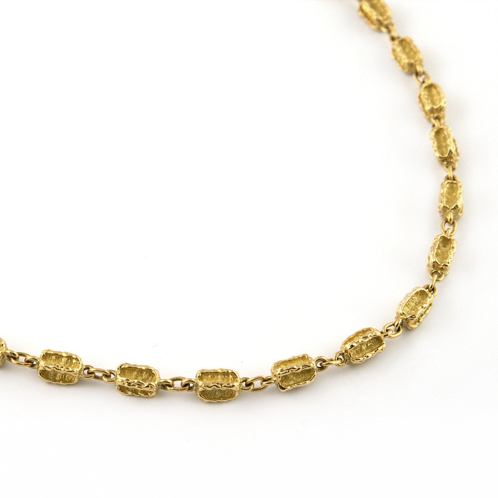 Vintage LUCAS Gold Nugget Necklace - Westmount, Montreal